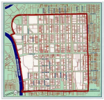 Wichita downtown self-supporting municipal improvement district (SSMID) boundary map