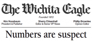 Wichita Eagle Opinion: Brownback Numbers are Suspect