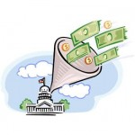 Taxes flowing to the capitol