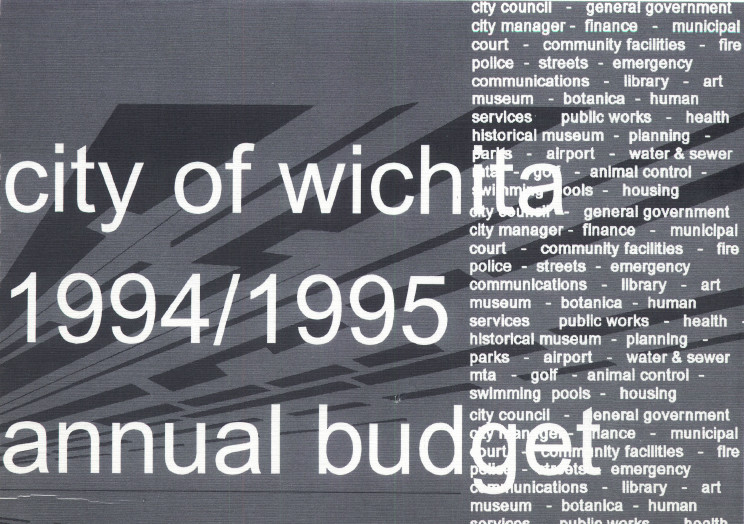 Wichita City Budget Cover, 1994