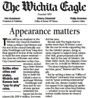 Wichita Eagle Appearance Matters editorial
