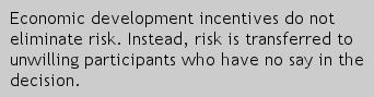 Economic development incentives reduce risk