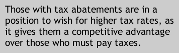Those with tax abatements