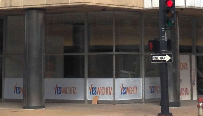 """Yes Wichita"" campaign headquarters, located in a building that received a sales tax exemption."