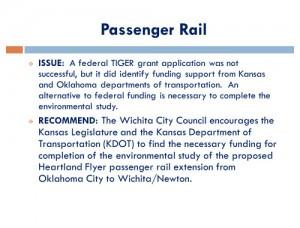 Wichita Legislative Agenda, November 2014, page 07, Passenger Rail