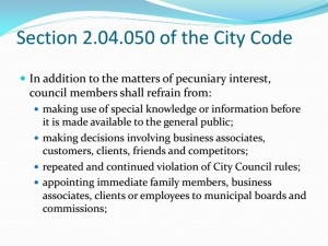 Presentation by city attorney to Wichita city council, November 2013.