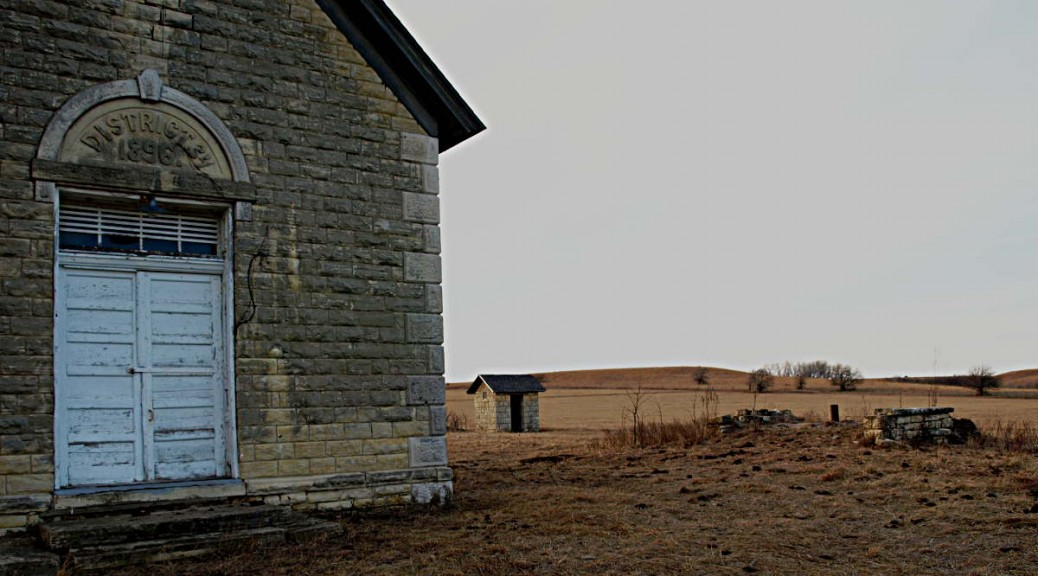 Schoolhouse in Kansas Flint Hills