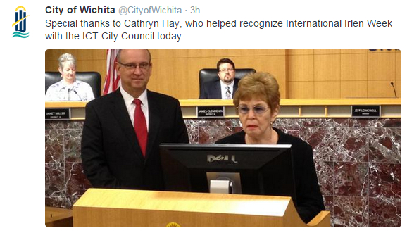 City of Wichita tweet Irlen 2015-10-13