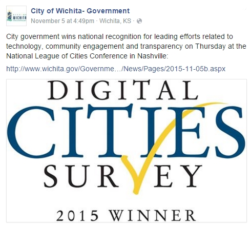 City of Wichita Facebook post.