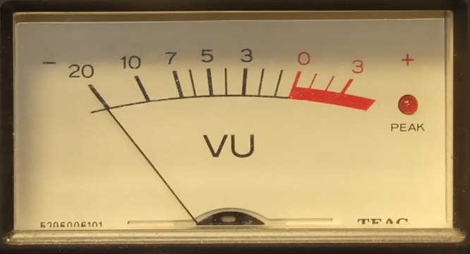 VU audio meter 1