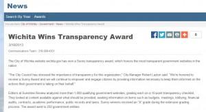 wichita-wins-transparency-award-2013