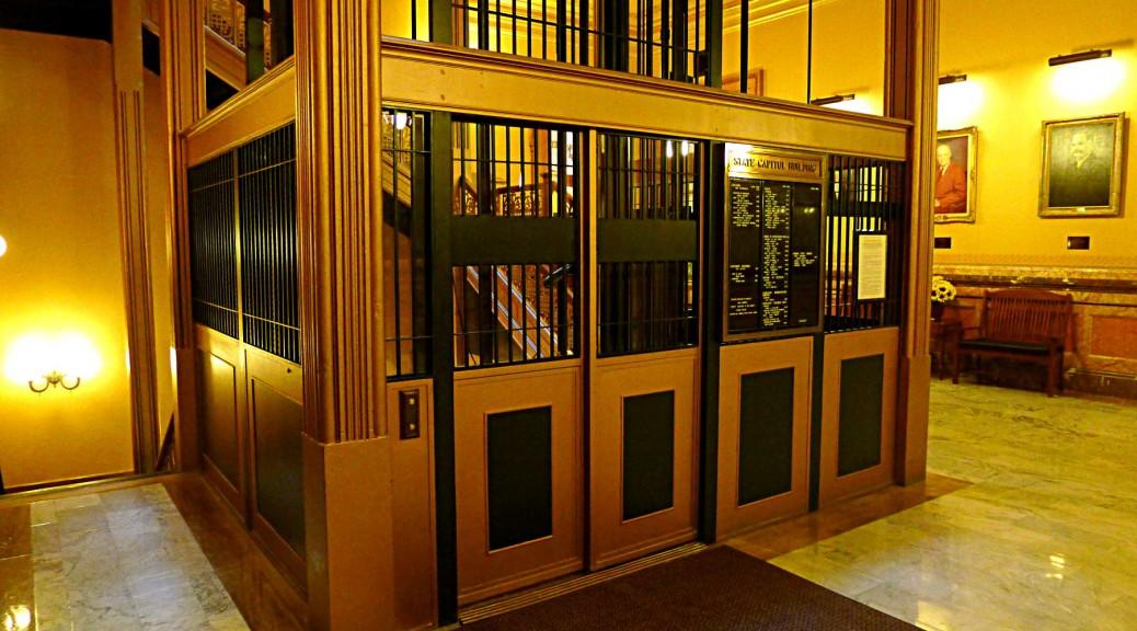 Antique elevator in Kansas Capitol
