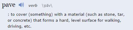 Pave definition