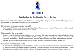 Paving dirt streets in Wichita, excerpt. Click for larger version.