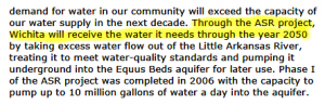 Wichita's Future Water-Supply Plan Moves Ahead (excerpt)