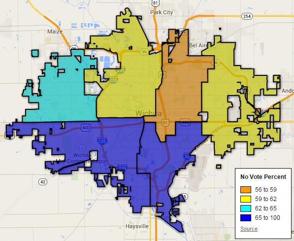 Wichita Sales Tax Election Map By District