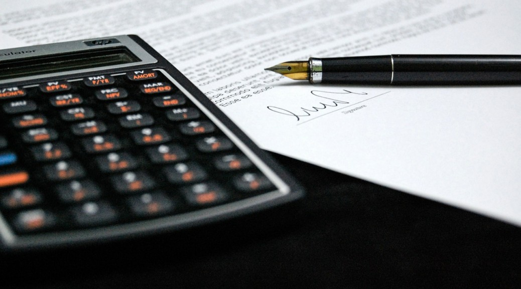 Business calculator document pen