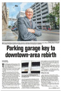 In its coverage of the rehab of the garage, the Wichita Eagle didn't let taxpayers know how much High Touch benefited from their contributions.