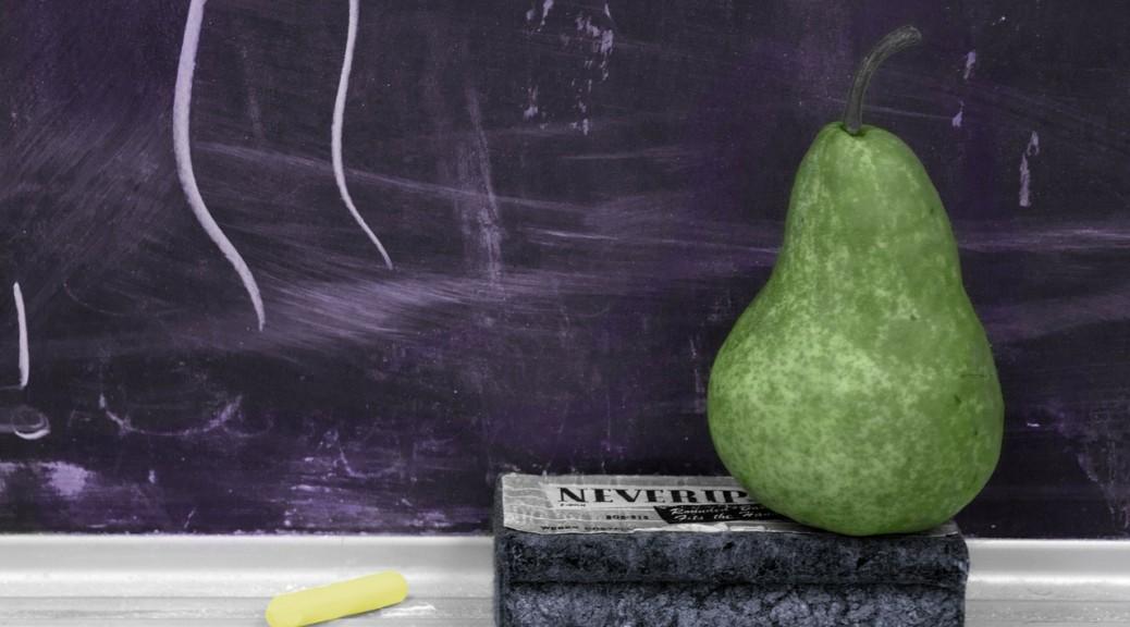 Chalkboard pear school