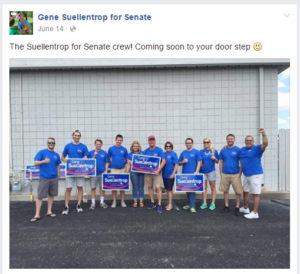 Can you spot the taxpayer-paid state employees on the campaign trail? The Wichita Eagle says there are two. (Click for larger)