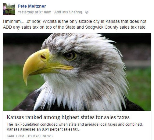 Pete Meitzner sales tax Facebook 2016-07-06