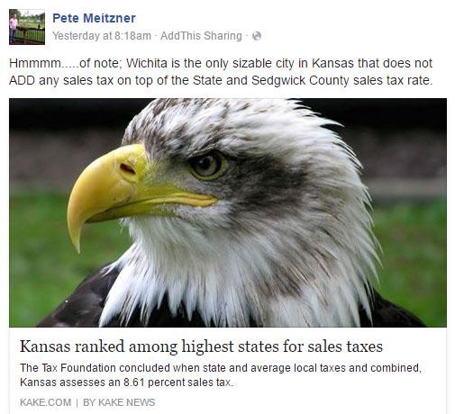 Pete Meitzner sales tax Facebook 2016-07-06