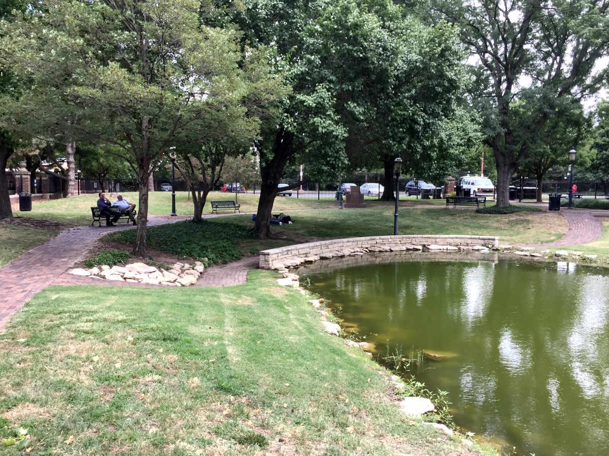 Naftzger Park in Downtown Wichita