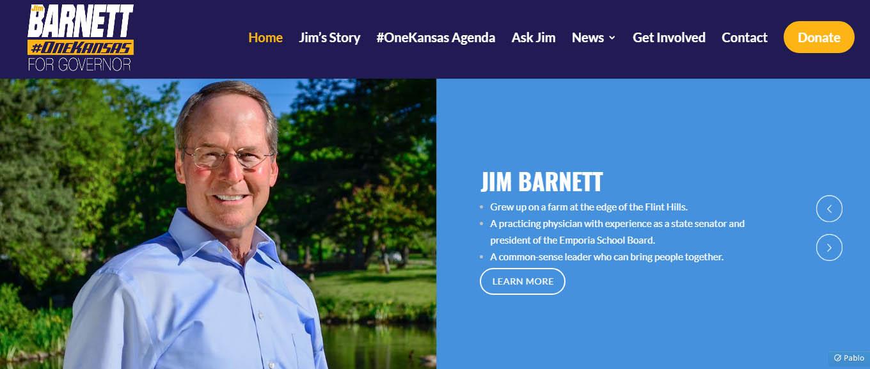 From Pachyderm: Jim Barnett, Candidate for Kansas Governor
