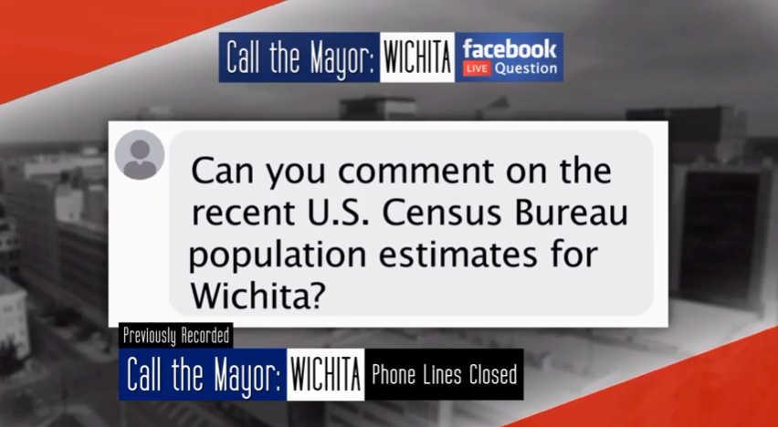 Wichita population, according to Mayor Longwell