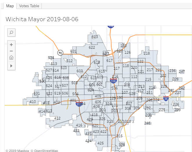Wichita mayoral primary election, August 6, 2019