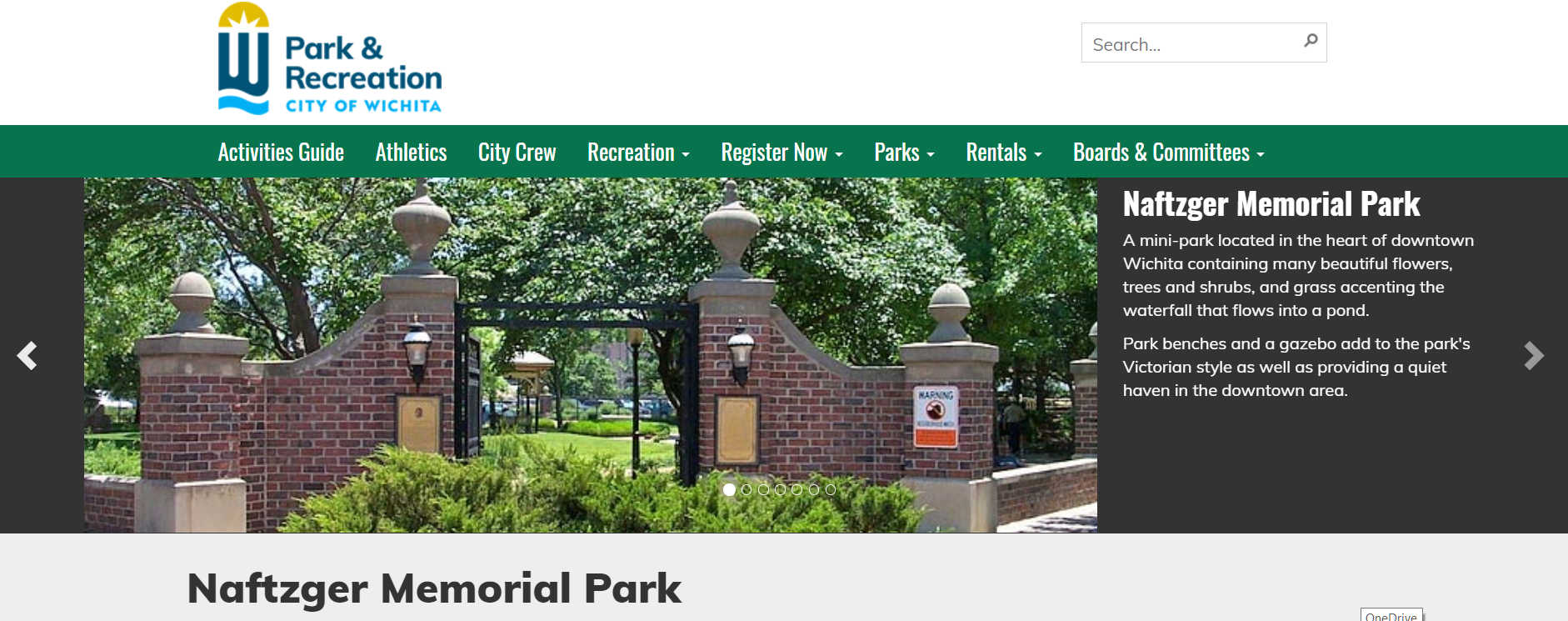 Naftzger Park on the web: Do we care?