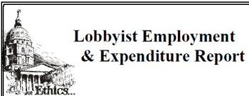 Kansas lobbyist expenditure report